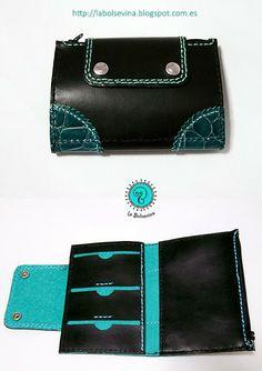 Cartera de cuero hecha a mano. Handcrafted leather wallet