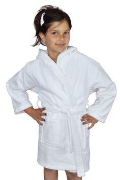 28daac3b87 Soft Touch Linen Unisex Kids Hooded Terry Velour Turkish Bathrobe 100%  Cotton. --