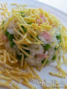 Arroz de Festa, para comemorar qualquer almoço especial. Clique na imagem para ver a receita no blog Manga com Pimenta.
