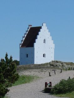Tilsandede Kirke Church, Skagen, Denmark