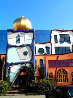 Panoramio - Photo of Aan de Stegge gebouw Goor insp. by Hundertwasser Unusual Buildings, Interesting Buildings, Amazing Buildings, Art Et Architecture, Amazing Architecture, Architecture Details, Friedensreich Hundertwasser, Unusual Homes, Gaudi