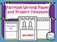 """This template for fairytale or fractured fairytale writing by Primary Wonderland includes full sized pages of castles with writing lines and spaces for adding student drawings or photos. The title page includes the classic """"Once Upon a Time..."""" while the other pages are adaptable for your own title, writing, or illustrations."""