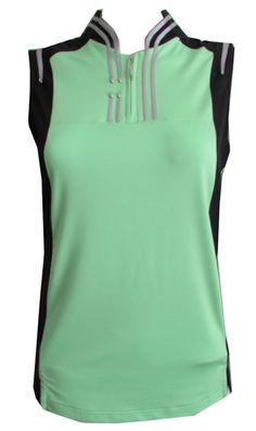 1fc6ab51c42 Viva Green   Black Jamie Sadock Ladies   Plus Size Sleeveless Golf Shirt!  Stylish ladies