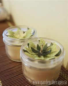 Lotus Flower Beeswax  Soy Mason Jar Candles 2