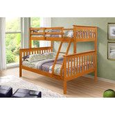 Found it at Wayfair - Twin over Full Bunk Bed with Built-In Ladder