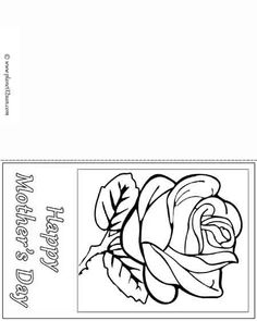 Free printable black & white worksheet. Happy Mother's Day