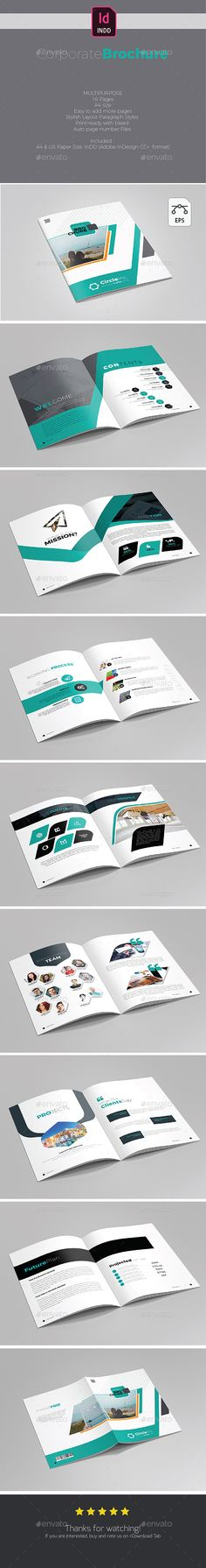 Creative Brochure Template InDesign INDD - 16 Pages A4 and US Letter Size