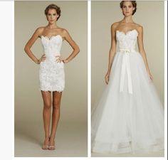 Reception dress - ceremony dress... Like the idea of similar styles