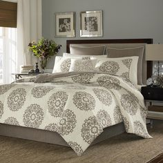 Stone Cottage Medallion Cotton Sateen 3-piece Duvet Cover Set and European Sham Set Seperates - Overstock™ Shopping - Great Deals on Stone Cottage Duvet Covers