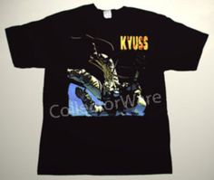KYUSS Into the Void CUSTOM ART UNIQUE T-SHIRT   Each T-shirt is individually hand-painted, a true and unique work of art indeed!  To order this, or design your own custom T-shirt, please contact us at info@collectorware.com, or visit  http://www.collectorware.com/tees-kyuss_qotsa.htm