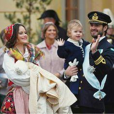 Swedish Royal attended prince Gabriel christening on 1st , Dêcmber, 2017.