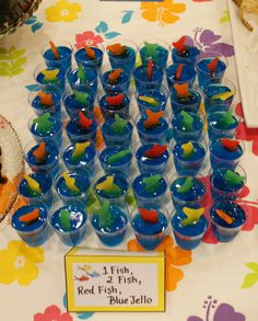 Dr. Seuss, One Fish, Two Fish, Red Fish, Blue Fish  Jello Shooters - Jello Shots