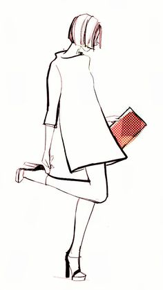 love this for my walk-in closet. Garance Dore for Kate SpadeWould love this for my walk-in closet. Garance Dore for Kate Spade Illustration Mode, Fashion Illustration Sketches, Fashion Sketches, Drawing Sketches, Fashion Drawings, Art Drawings, Sketching, Hipster Drawings, Basic Drawing