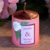 """Pink/White Flower Small Favor - 1.75"""" tall"""
