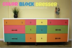 Color Block Dresser!