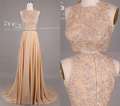 Sweet 16 Champagne Beading lace Long Prom Dress/Sexy Champagne Lace Prom Dress/Prom Dress Long/Prom Dresses 2015/Prom Dress Vintage DH411