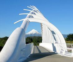 Te Rewa Rewa Bridge, New Plymouth, NZ - World's Most Spectacular Pedestrian Bridges | Travel + Leisure