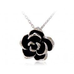 18K RGP Alloy Rose Pedant Necklace