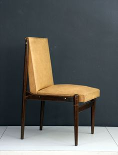 Frank Kyle; Wood and Brass Frame Sidechair, 1950s.