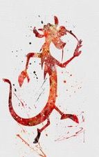 Mushu  watercolor