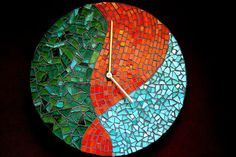 abstract mosaic clock