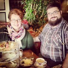 Wife and I at empress tea in Victoria