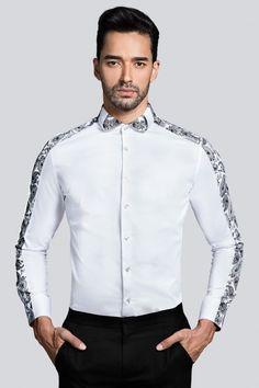 Designer Shirt by Adamist Indian Men Fashion, Best Mens Fashion, Suit Fashion, Fashion Outfits, African Clothing For Men, African Shirts, Formal Shirts For Men, Casual Shirts, Camisa Slim
