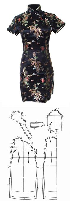 qipao - Tradicional chinese dress pattern