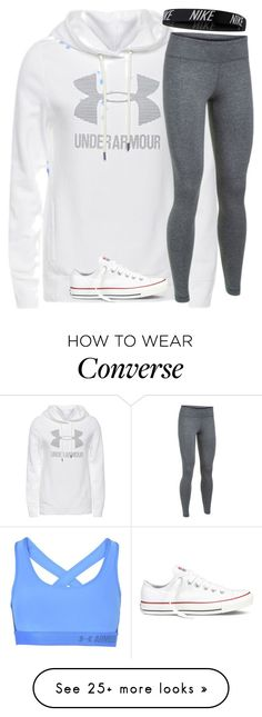 """""""Untitled #2513"""" by laurenatria11 on Polyvore featuring Under Armour, NIKE and Converse"""