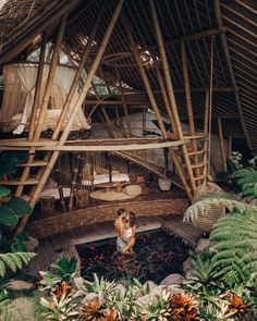hideout horizon - honeymoon perfection - The Best Examples of Eco Tourism Architecture Bamboo House Design, Bamboo House Bali, Voyage Bali, Bamboo Architecture, House Architecture, Bali Travel, Luxury Travel, Beautiful Places To Travel, Travel Aesthetic