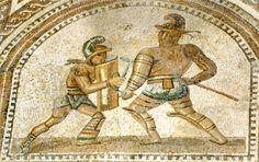 Mosaic from Bad KrEuznach...love my gladiators!