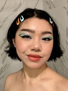 Cute Makeup Looks, Makeup Eye Looks, Creative Makeup Looks, Eye Makeup Art, Pretty Makeup, Skin Makeup, Beauty Makeup, Indie Makeup, Edgy Makeup