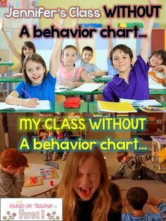 I think there's a lot of merit to this idea. My thought would be, though, is that if you're really struggling to maintain your classroom, a tool like a behavior chart can be a life saver. Maybe make it your goal to first get control by using a chart. THEN eliminate it once your confidence is built up and your kids understand your rules   The Hands-On Teacher: I Took Down My Clip Chart! What happened next was SHOCKING..