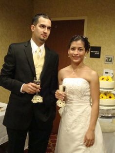 Claudio  Y  Stephanie el día de su Boda