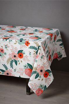 botanical garden tablecloth by rifle paper co.! loooooooooove (big time).