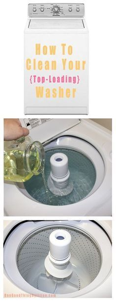 How to Clean Your Top-Loading Washer. How can you expect to get clean clothes from a dirty washer?? This process will have your washer working as well as the day you bought it!!