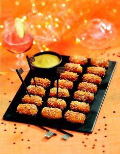saucisses cocktail au miel et graines de sésame