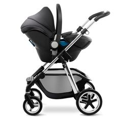The Silver Cross Simplicity car seat creates a convenient travel system when used with all of our  pram systems and the Reflex pushchair.