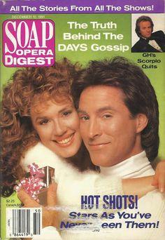 Staci Greason & Drake Hogestyn (Isabella & Roman II/John #DAYS) 12/10/91 http://classicsodcovers.tumblr.com/