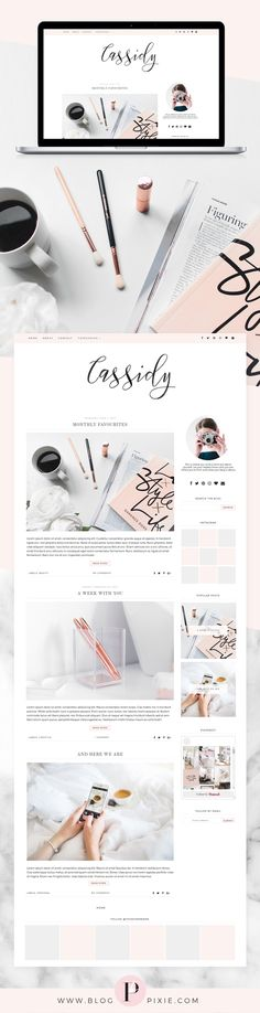 Blogger template for fashion, beauty and lifestyle bloggers. Minimalist, feminine blog themes, responsive design. Best blog themes for Blogger. Find it at Blog Pixie.