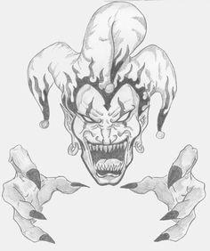 34 best evil clown tattoos images evil clown tattoos evil clowns