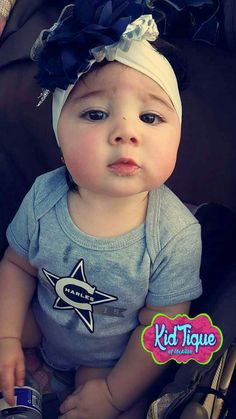 Cowboys inspired headband and custom tee for family reunion exclusively from KidTique of Mcallen