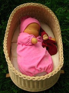 """Waldorf baby doll, Heavy baby, Weighted Baby Doll, 14."""" Various colours"""