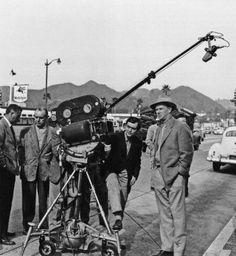 Stanley Kubrick and Sterling Hayden on the set of The Killing,1956