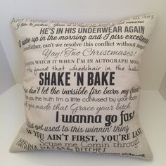 Talladega Nights: The Ballad of Ricky Bobby movie quote pillow COVER ONLY 16x16 couch cushion; college dorm; graduation gift; curse words