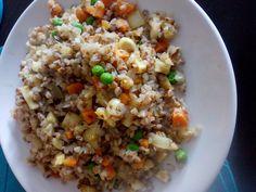 Fried Rice, Fries, Ethnic Recipes, Food, Diet, Bulgur, Essen, Meals, Nasi Goreng