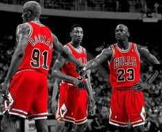 Chicago Bulls and the original Big 3.
