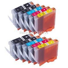 10 Compatible Canon Ink Cartridges for Pixma iP4500 iP5100 iP5200 iP7500 iP7600 Printers