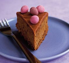 Chocca mocca caramel cake. A delight at any time, but especially when strewn with chocolate eggs for Easter