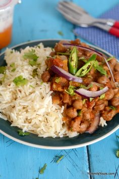 Who needs restaurant take out when these curried chikpeas are such a breeze to make! Oh and they taste amazing too...